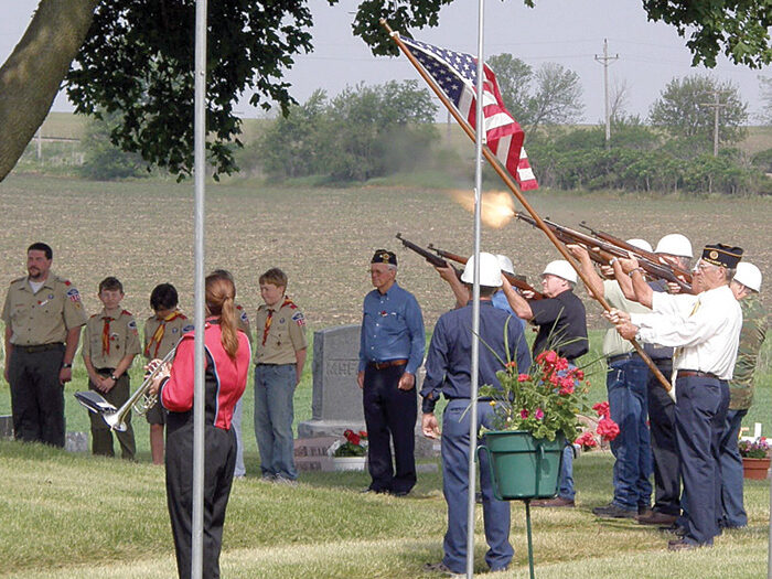 memorial day ceremony at the cemetery