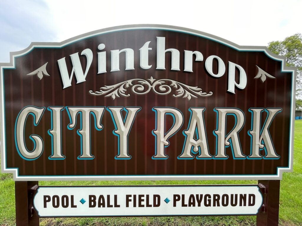winthrop city park sign